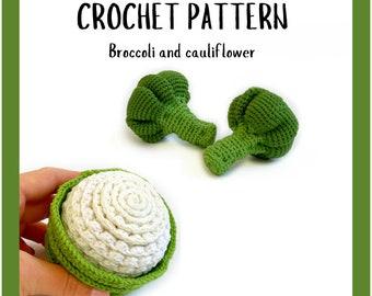 Broccoli Crochet Pattern - Crochet Vegetables Pattern - Crochet Cauliflower