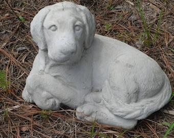 Outdoor Labrador Concrete Statue, Laying Lab, Concrete Pet Statue, Labrador  Retriever Statue, Pet Memorial, Dog Statues, Outdoor Pet Statues