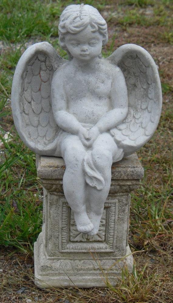 Pedestal Angel Statue Outdoor Statues, Angel Outdoor Statues
