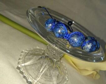 Lapis Blue - Woven Bracelet