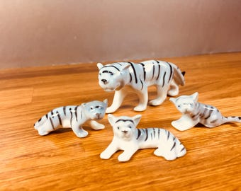 Pfeffer Gotha Porcelain Tiger with Three Cubs