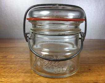 Ball Ideal Clear Glass No3 Wire Bail Jar