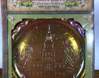 Indiana Glass Marigold Independence Hall Plate