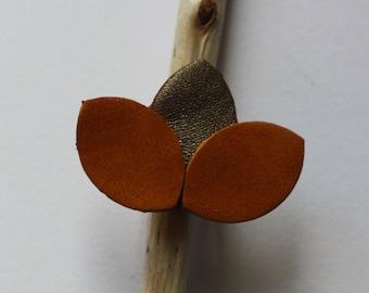 Caramel leather ring