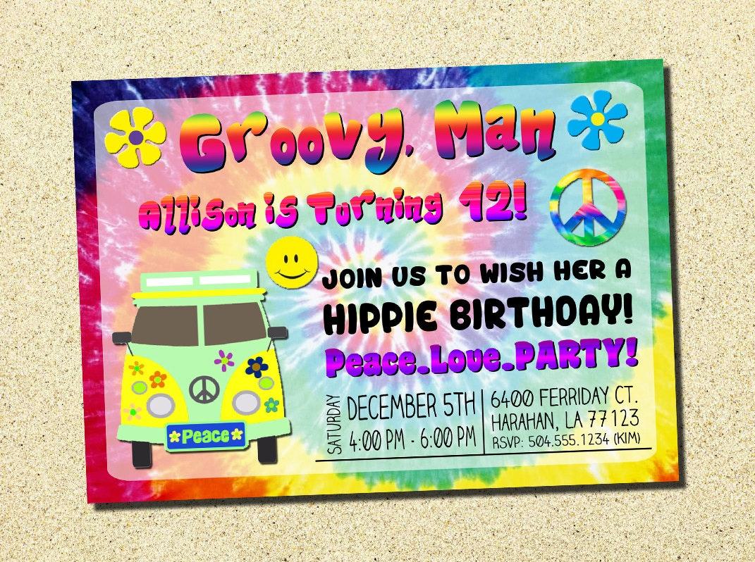1960s Invitation 60s Invitation 1960s Birthday Invitation Etsy