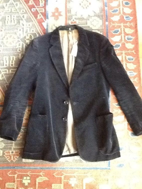60s Black Velvet Sports Coat