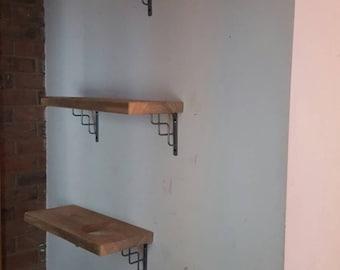 Quirky, unique reclaimed wood cat shelves