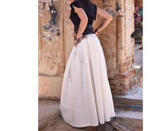9d03f5d5a3ad1 Long white skirt
