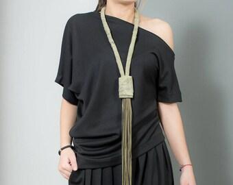 Asymmetrical Top, Off Shoulder Top, Women Black Top, Extravagant Blouse, Short Sleeve Blouse, Plus Size Top, One Shoulder Top, Oversized Top