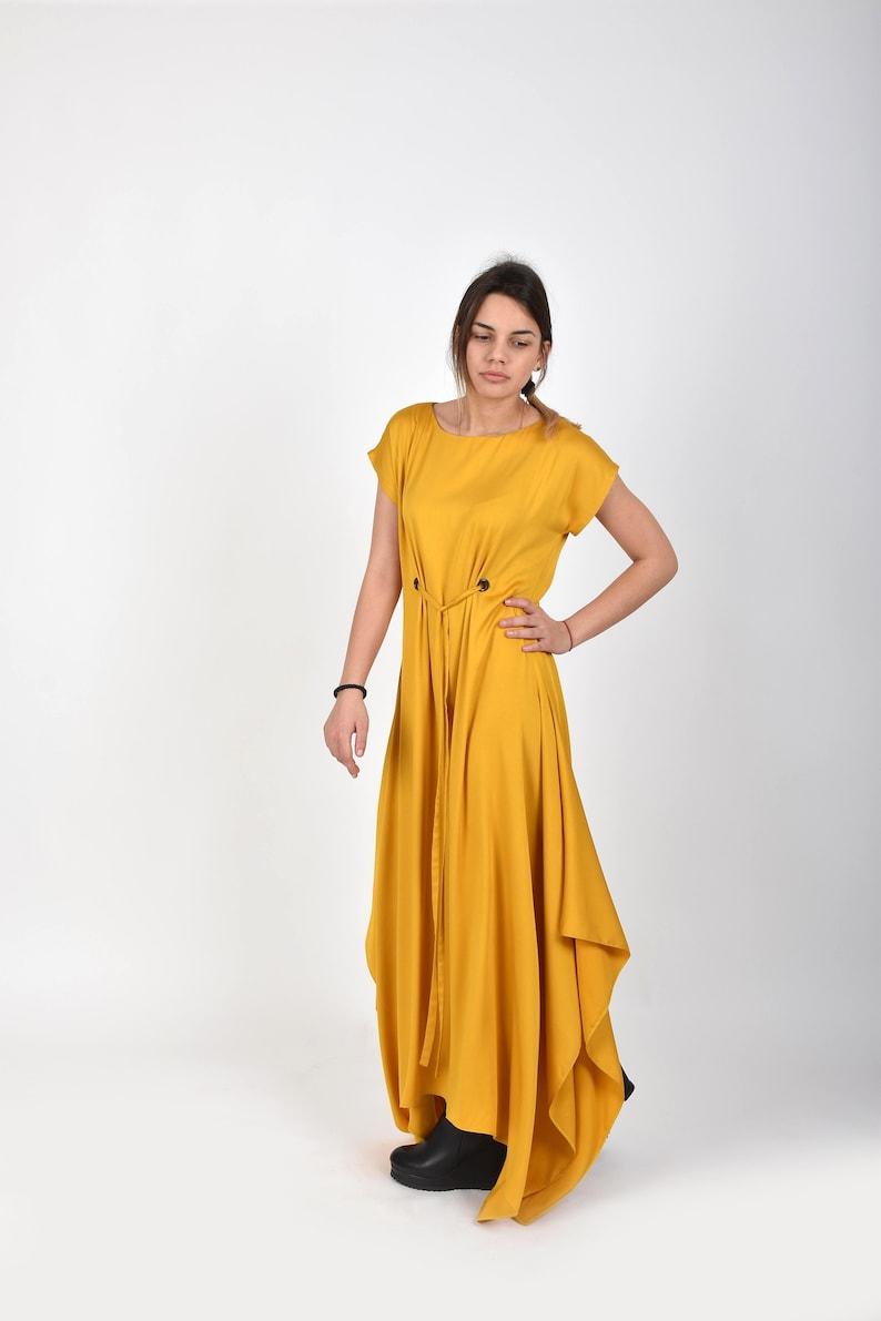Yellow Dress Maxi Dress Plus Size Clothing Oversized Dress | Etsy