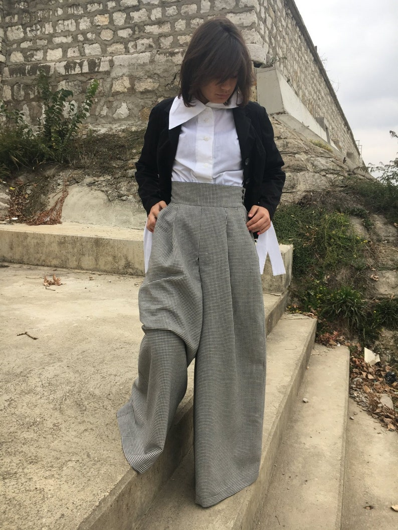 Harem Pants Pants For Women Linen Pants Wide Leg Pants Wool Pants Long Maxi Pants Drop Crotch Pants Baggy Pants Urban Clothing