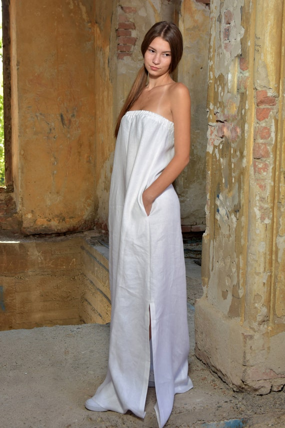 Plus Size White Summer Dress