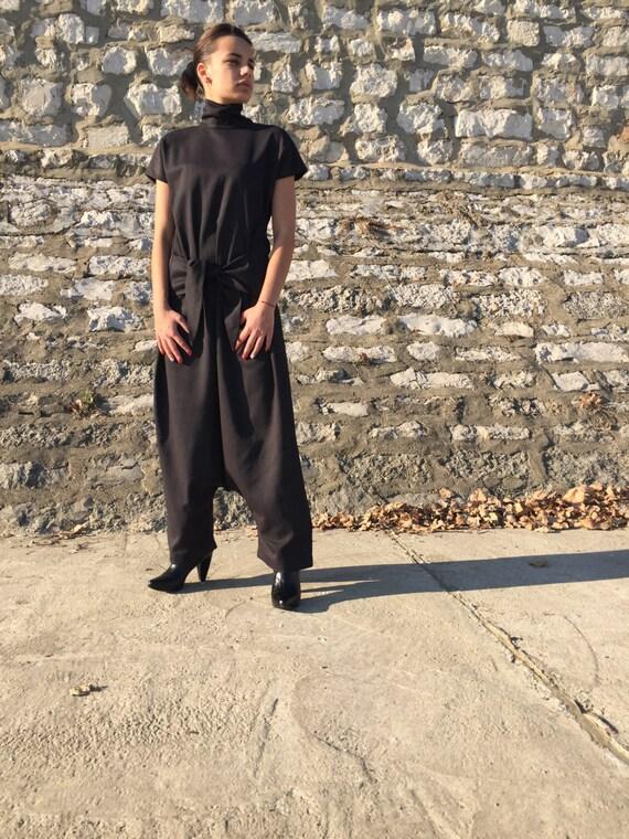 54e315b4eba Harem Jumpsuit Linen Clothing Women Jumpsuit Linen