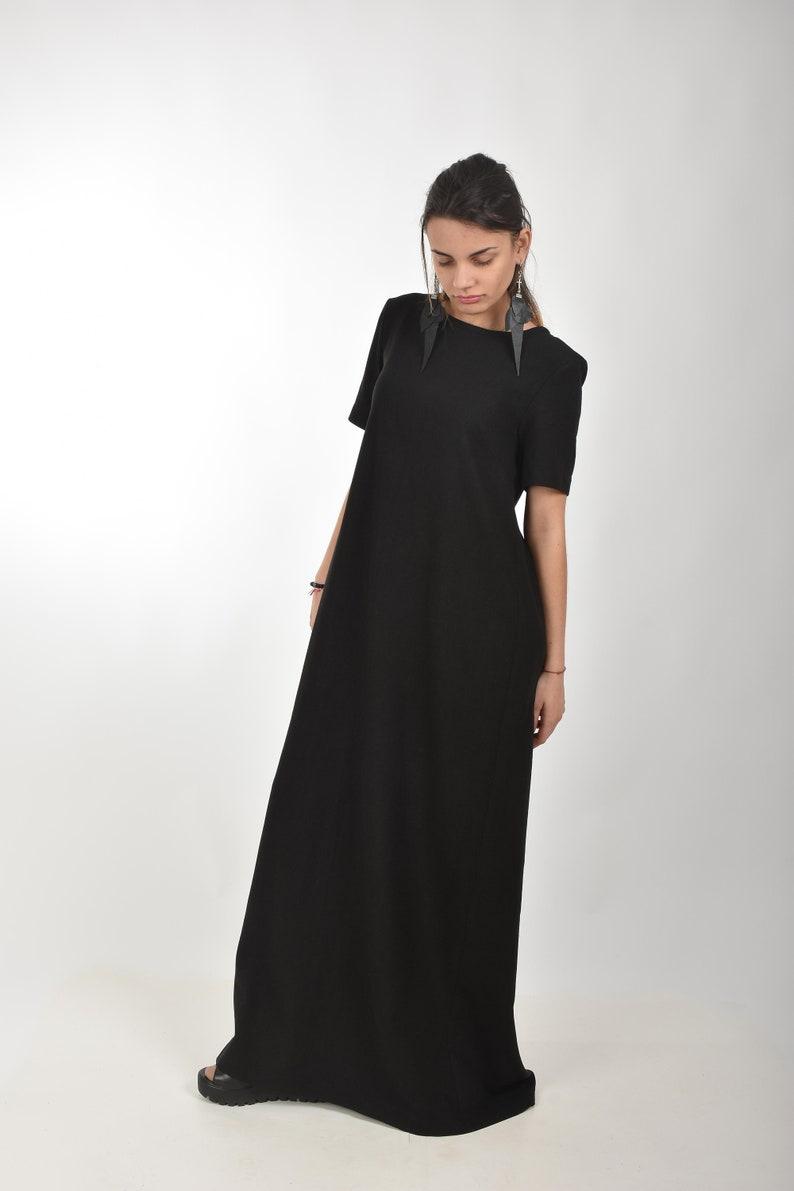 a42a200ace9 Black Linen Dress Maxi Dress Linen Clothes Women Linen