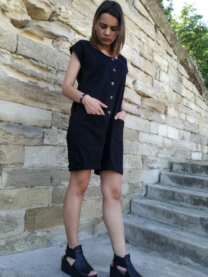 8a0cc997b2a Short Jumpsuit Plus Size Jumpsuit Gothic Clothing Women