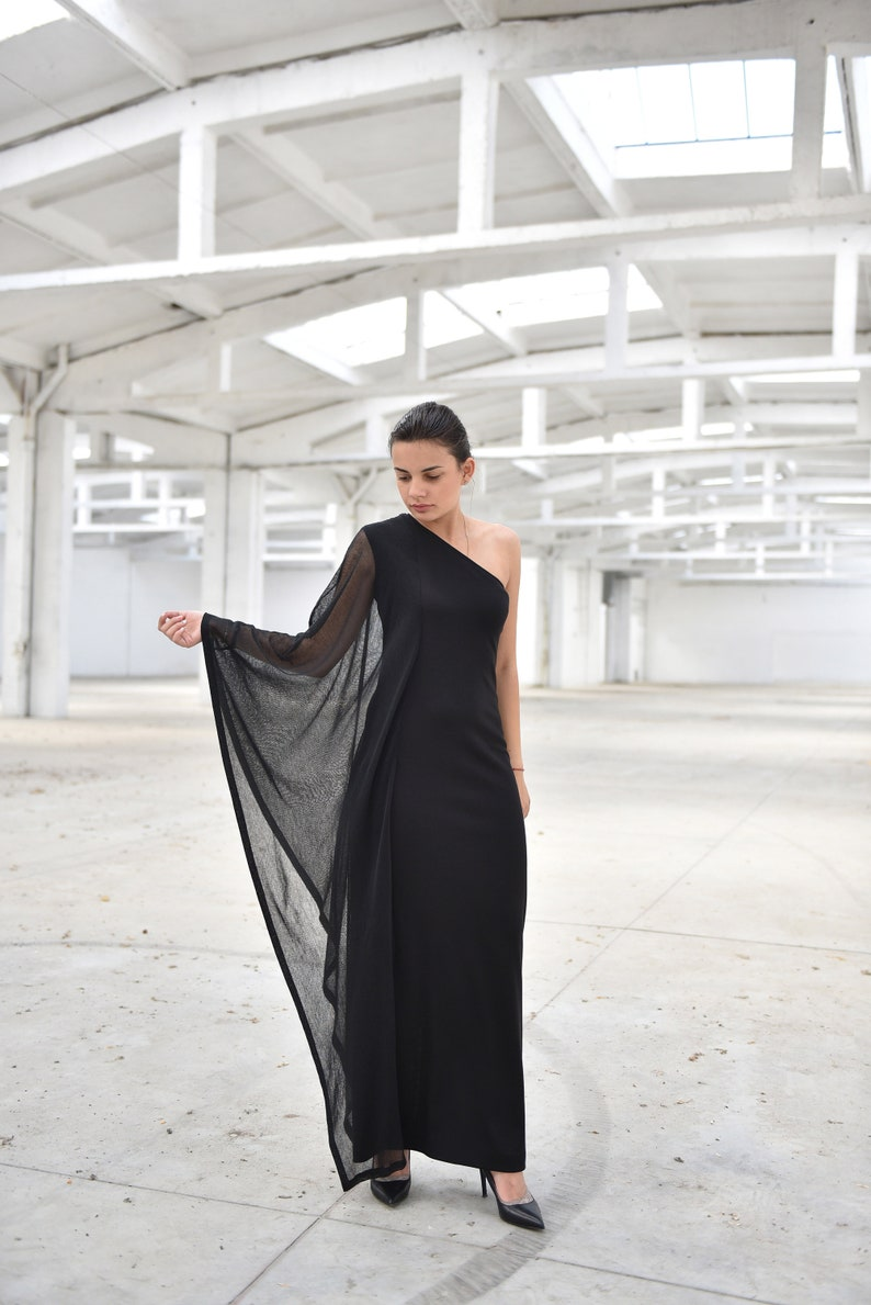 One Shoulder Dress Plus Size Formal Dress Evening Dress | Etsy