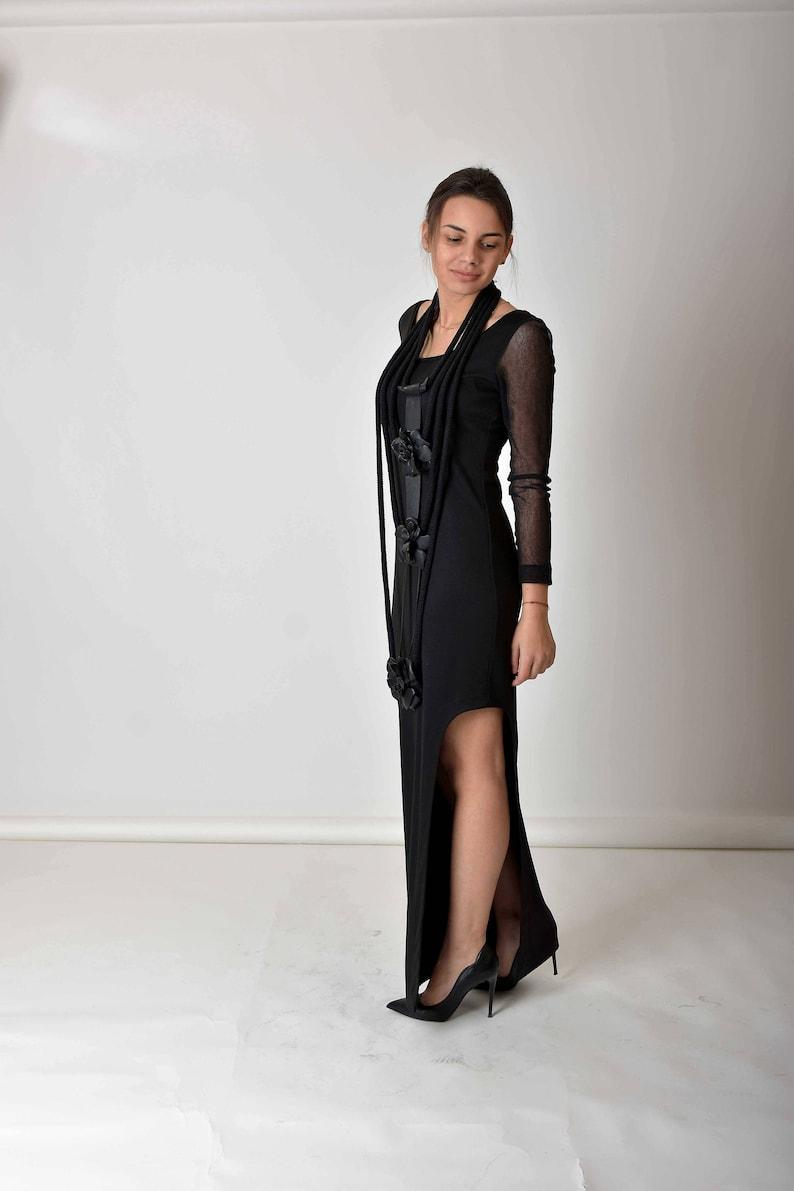 d55b5b12f71 Black Maxi Dress Gothic Dress Bohemian Clothing Plus Size