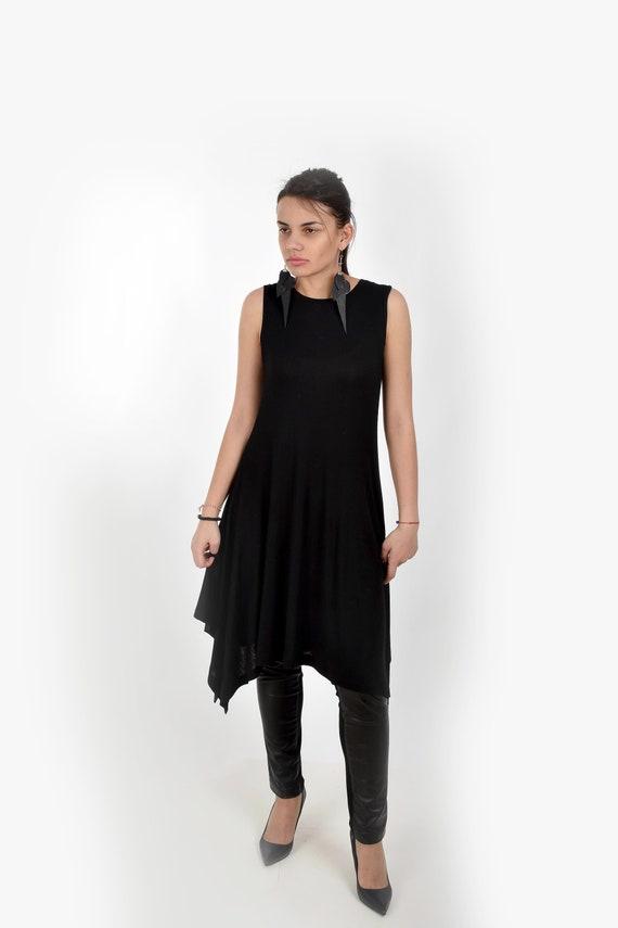 Black Dress Tank Dress Plus Size Dress Women Dress Tunic Etsy