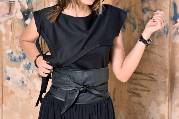 361a69a1c96a Ceinture femme ceinture noire ceinture large Ceinture   Etsy