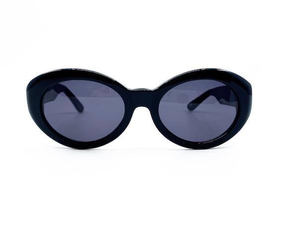 GIANNI VERSACE 1990s Black Studded Sunglasses ova… - image 2