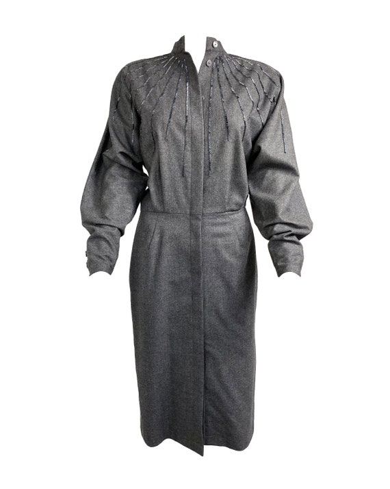 GUCCI 1970s Batwing Dress Beaded Duster Jacket - image 1