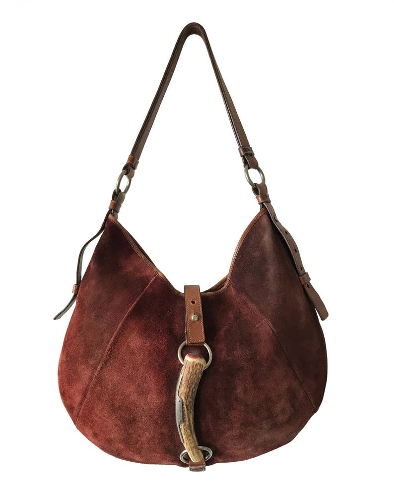 e89dd9136595 YVES SAINT LAURENT Vintage Tom Ford Brown Suede Mombasa