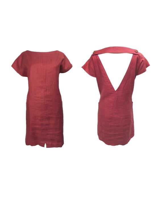 YVES SAINT LAURENT Vintage 1980s Tunic Dress Ysl R