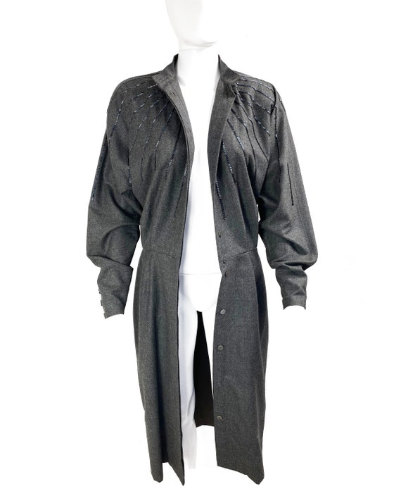 GUCCI 1970s Batwing Dress Beaded Duster Jacket - image 3