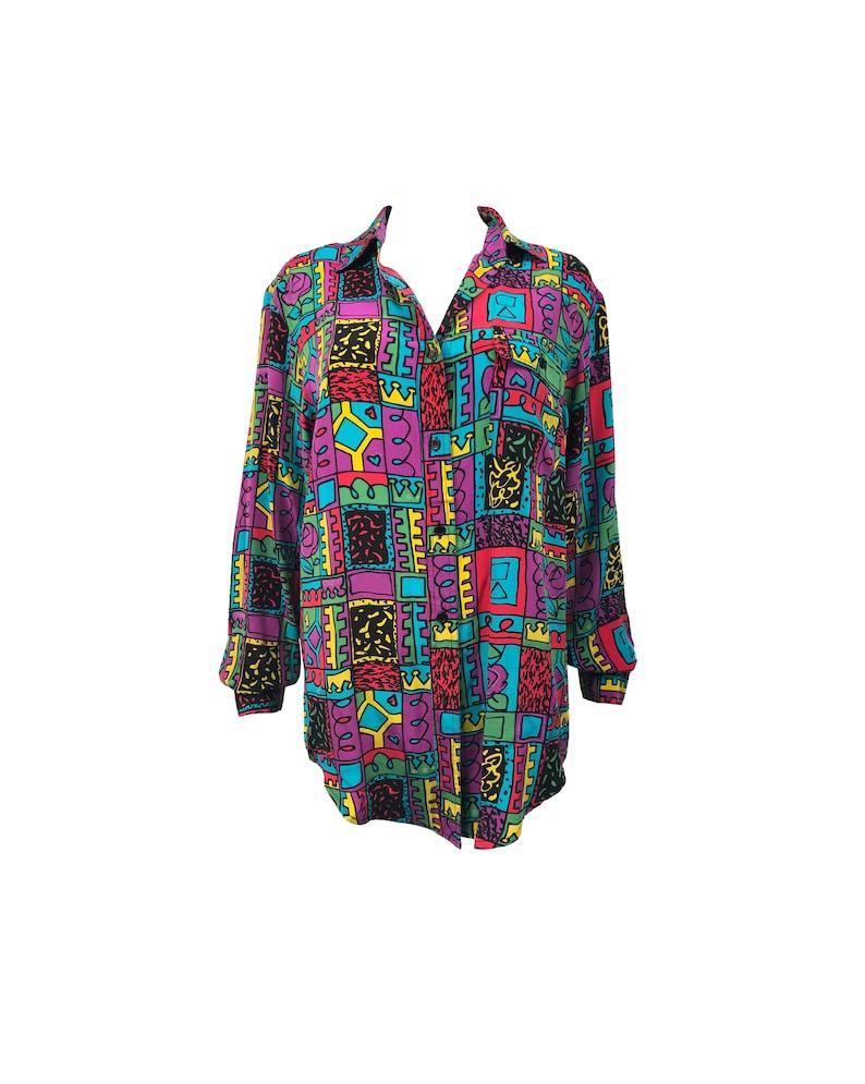 18ea5b9b Vintage Versace Printed Silk Shirts   Top Mode Depot