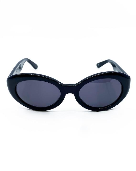 GIANNI VERSACE 1990s Black Studded Sunglasses ova… - image 4