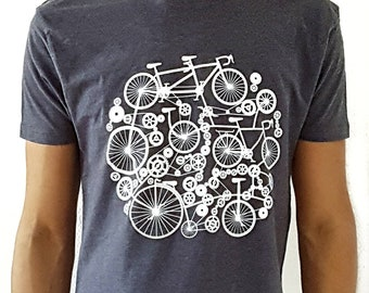 Men's T-shirt Bikes - Different colors Green, Blue, etc. Perfect mens gift for birthday
