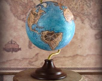 Handmade fantasy inspired desk globe