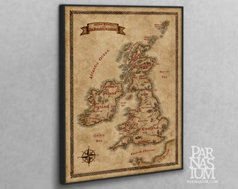 Canvas map of British Isles, Fantasy British Isles map