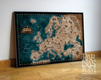 Map of Europe, Fantasy inspired Europe map