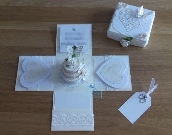 Handmade Personalised Birthday// Anniversary// Engagement Card Gift Box
