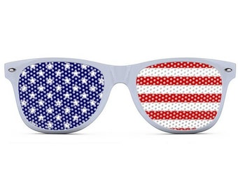 87b28f5119fb USA Sunglasses - Patriotic Shades - Red White and Blue - America