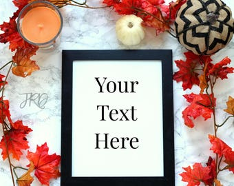 Fall Themed Styled Stock Photo for Blogs and Instagram   Autumn Stock photography images