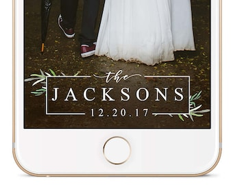 Boho Wedding Snapchat Geofilter, Wedding Snapchat Filter, Wedding Snapchat Geofilter, Wedding Geofilter, Wedding Snapchat, Botanical, Green