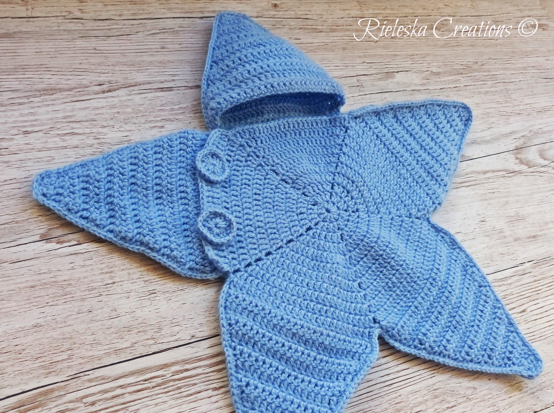 Crochet Pdf Pattern Star Baby Bunting Baby Cocoon 0 3 Etsy
