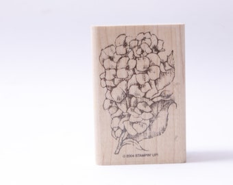 Stampin/' Up Romance Rubber Message Stamp Stamp Card Making Bouquet Vintage ~ 20-28-971 Floral Flowers Wooden