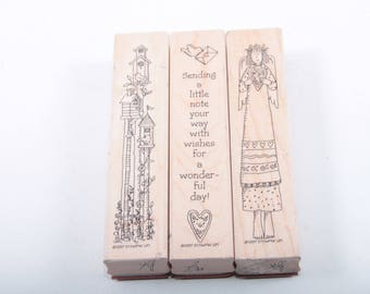 Stampin Up, Wonderful Wishes, Vintage, Stamp Set, Angel, Heart, Birdhouse, Card, Making, Message, Scrapbooking ~ Sir Stampinton ~ 170521