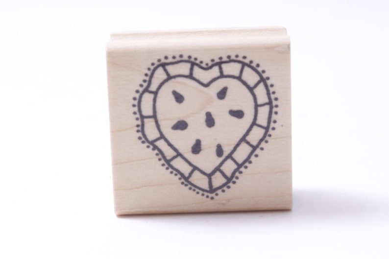 Friendship Heart Rubber Valentine/'s Day Pillow Dotted Love Vintage Stamp ~ M-01-02 Card Making Message Stamp Wooden