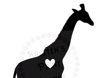 Giraffe Love Decal