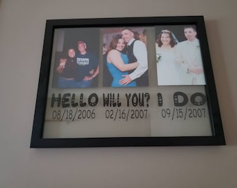 Our Love Story Floating Frame   Anniversary & Wedding Gift