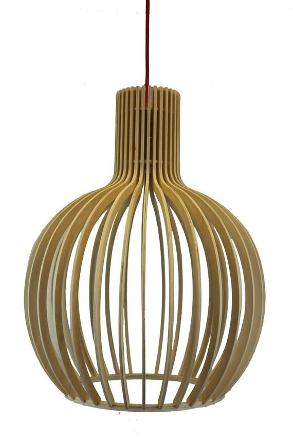 Extreem Berk natuurlijke hout Secto Octo hanglamp | Etsy &FU41