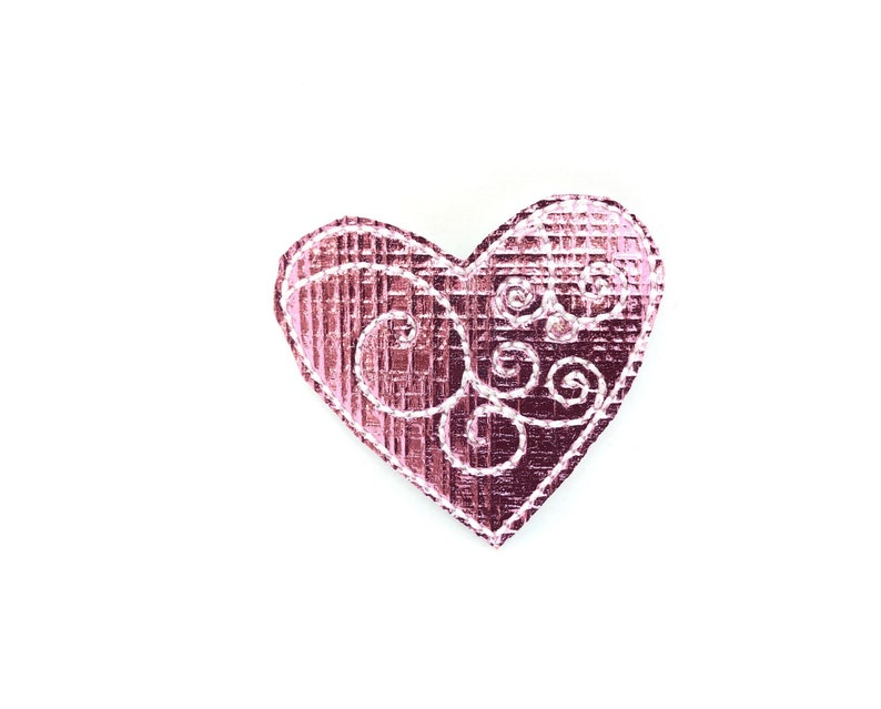 Pink Heart Gold Heart Valentine/'s Day Dog Collar Embellishment Valentine/'s Day Dog Collar Accessory Metallic Pink Heart Embellishment