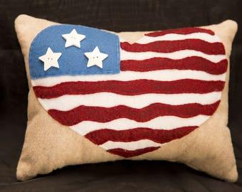 U.S.A. Love Pillow