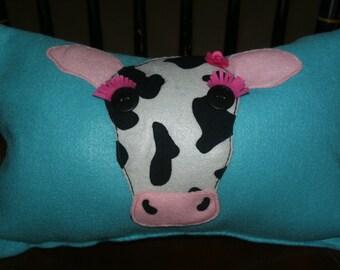 Got Glam? Decorative Cow Pillow