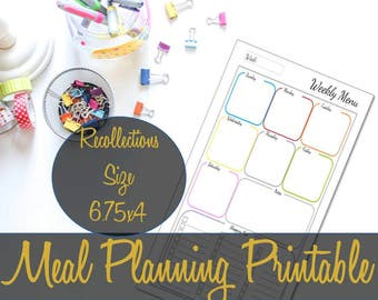 Meal Planning Recollections Printable Insert, Recollections Refills, Recollections Inserts, Michael's Inserts, Grocery List, Shopping List