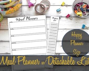 Happy Planner Insert, Meal Planning Insert, Shopping List, Mambi Insert, Happy Planner Inserts, Happy Planner Refill Happy Planner Printable